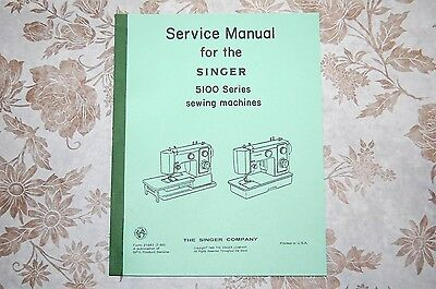 Professional Service Manual for Singer 5102, 5107, 5123 & 5127 Sewing Machines.