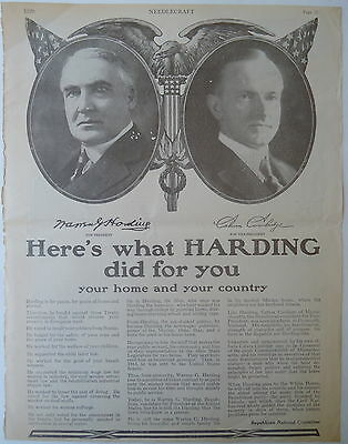 Here's What HARDING & Coolidge Did For You Needlecraft Mag. Full Page Poster Ad