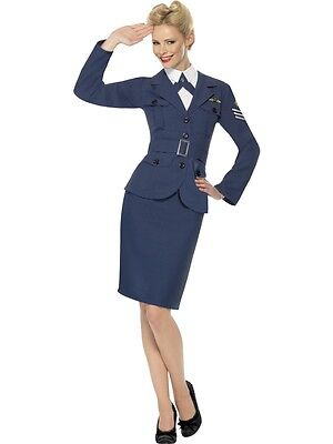 COSTUME DONNA RAF UFFICIALE WW2 TEMPO DI GUERRA 1940s QUARANTA ROYAL AIR FORCE