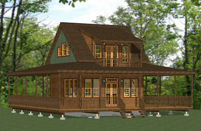 16 X 20 Cabin Shed Guest House Building Plans 61620