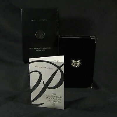 1997-W 4 Coin Proof Platinum American Eagle Box OGP & COA No Coins