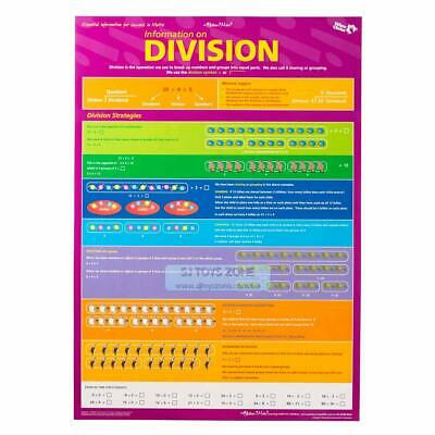 Times Tables and Division Facts with Division Strategies Double Sided Wall Chart