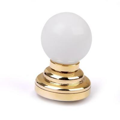 Gold Plated Metal LED Light Table Lamp for 1:12 Dolls House Miniature