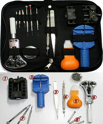 13Pcs Watch Battery Change Repair ToolBand Pin RemoverBack Case Opener Kit Set