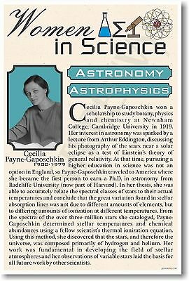 Cecilia Payne-Gaposchki - NEW Women in Science Astronomy - Classroom POSTER