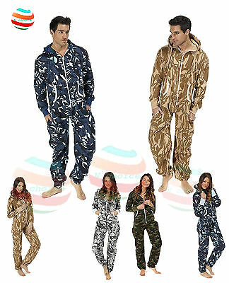 Mens Ladies unisex jumpsuit bodysuit aztec camouflage onsie lot all in one piece