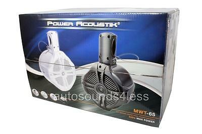 "Power Acoustik MWT-65W 500 Watt Marine White 6.5"" Wake Tower  Speakers 6-1/2"""
