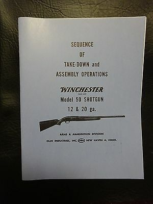 Winchester model 50  manual approved by Winchester 35 yrs ago