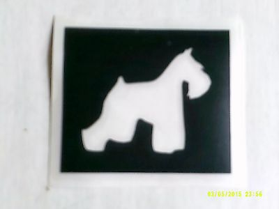 10 - 400 Kerry Blue / Schnauzer dog stencil for etching glass hobby gift present