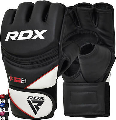 RDX Boxing MMA Gloves Grappling Punching Bag Training Martial Arts Sparring F12