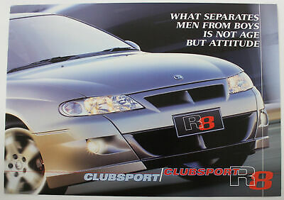 VX HSV Clubsport R8 Brochure Holden Special Vehicles Memorabilia I just want one
