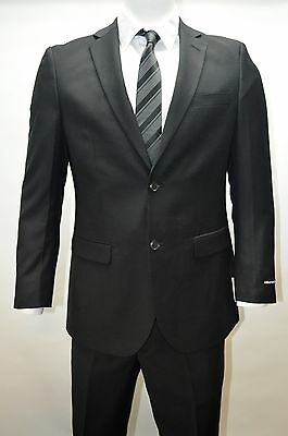 Men's Black 2 Button Modern Fit Suit SIZE 38L NEW