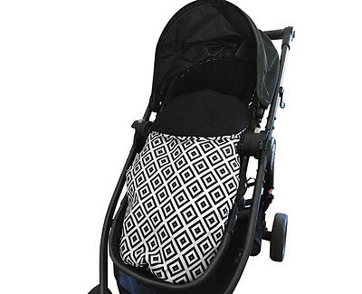 GOOSEBERRY Pram FOOTMUFF LINER SLEEPING BAG 2in1 Universal Monochrome Pattern