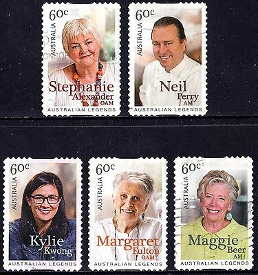 Australia 2014 Australian Legends of Cooking Complete Set of stamps P Used S/A