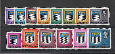 Northern Rhodesia 1963 Complete Set Sg 75-88 Mnh.