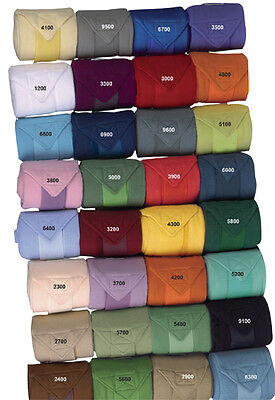 HKM Fleece Dressage Polo Exercise Bandage comes as a set of 4 choice of colours