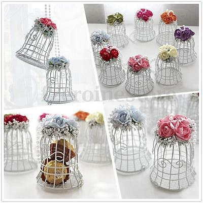 Birdcage Hollow Wedding Party Xmas Gift Box Favors Metal Candy Chocolate Decor