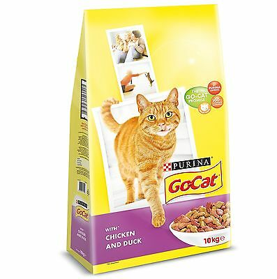 PURINA GO-CAT Adult Cat with Chicken and Duck Dry Fo... - BRAND NEW & NEXT-DAY!!