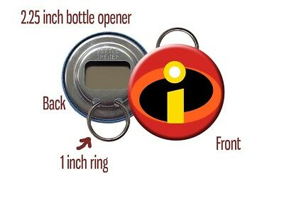 Incredibles Logo 'I' Superhero Disney Pixar Bottle Opener / Keychain