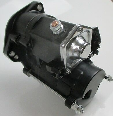 Starter Motor, All Balls 1.4kw Black, BigTwin 06-12 Dyna Softail Touring Harley