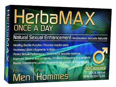 HerbaMAX for Men 30 capsules (Once a Day) - Natural Sexual Enhancement Pills