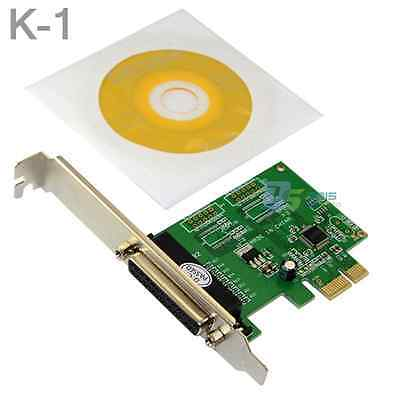 1Lot  Parallel Printer Port DB25 LPT to PCI-E Express Card Adapter Low Profile