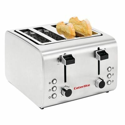Caterlite 4 Slice Toaster Stainless Steel Catering Kitchen Appliance