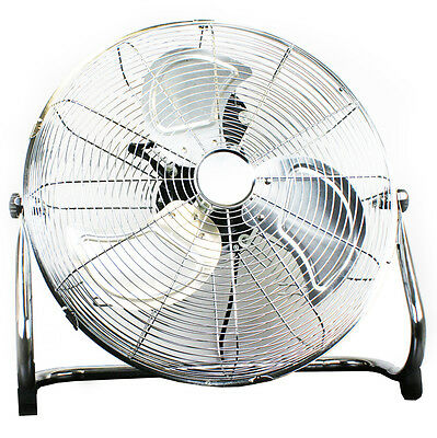 """NEW! 18"""" Chrome High Velocity Industrial 3 Speed Free Standing Large Gym Fan"""