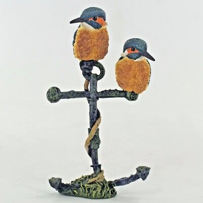 Kingfisher Sea Anchor Sculpture Figure Fishing Gift Present H9cm 04085