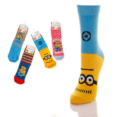 Kids Official Despicable Me Minion Socks UK 1 Pair 6-3UK NEW FREE UK P&P