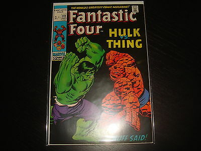 FANTASTIC FOUR #112 Thing Vs Hulk    Marvel Comics 1971  High Grade  VF+
