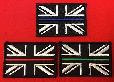 Thin Blue Red Green Line Union Jack Badges Police Thin Blue Line Fire Service