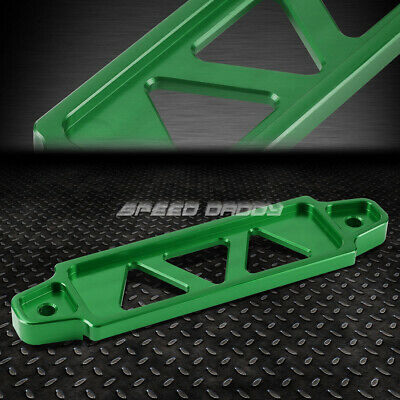 170Mm/145Mm Green Billet Aluminum Car Battery Tie Down Mount Bracket Brace Bar