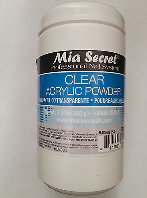 Mia Secret Clear Acrylic Powder 1.5 lbs Acrilico claro 24oz Free Expedited Ship