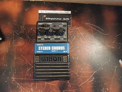 Vintage Arion Sch-1 Stereo Chorus Effect Pedal
