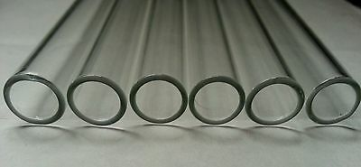 "4"" Long 20 Tubes Glass Pyrex Tubing 10 mm OD 8mm ID 1mm Wall"