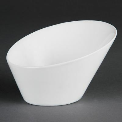 Olympia Whiteware Oval Sloping Bowls - Oven Safe - 90x133x154mm - x3 - 335ml