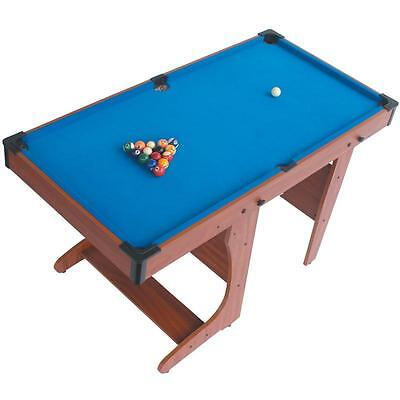 4.5Ft Foldable Billiard Pool Table Complete Gaming Package Toy Gift Set For Kids