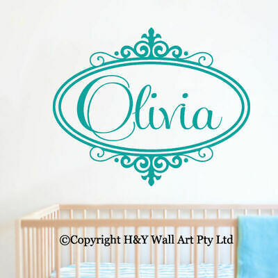 Custom Personalised Name Wall Stickers Baby Kids Nursery Decor Art Mural Decal