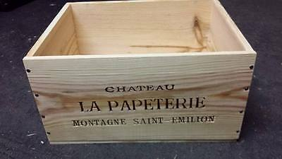 La Papeterie St Emilion Genuine French Wooden Wine Box Planter Hamper Storage.,