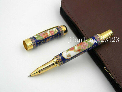 Jinhao Cloisonne Porcelain Traditional Painting With Poem Rollerball Pen