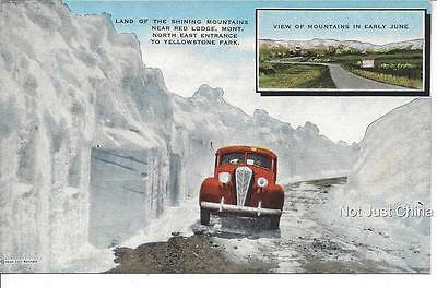 Vintage Hudson - 1946 Red Lodge, Yellowstone Park, Hudson - Post Card