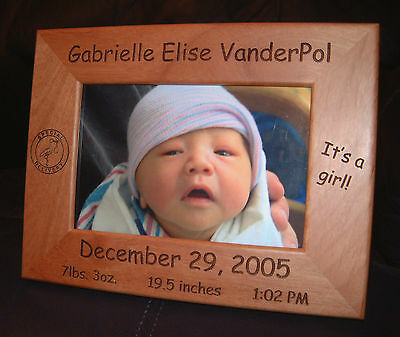 "Personalized Engraved Baby 4x6 Frame ""Special Delivery"""
