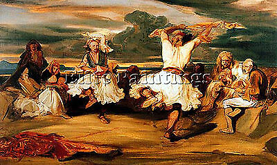 Decamps Albanian Dancers Artist Painting Handmade Oil Canvas Repro Wall Art Deco
