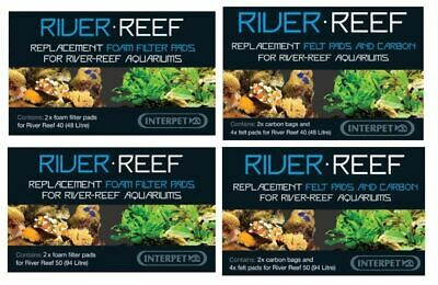 Interpet River Reef 48 & 94 Filter Felt Pad Carbon Foam Sponge Media Fish Tank