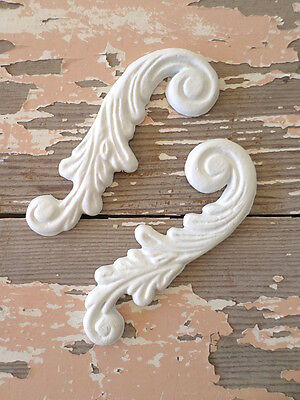 SHABBY n CHIC ARCHITECTURAL FURNITURE APPLIQUES CARVED SCROLLS FLEXIBLE!