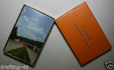 Vintage Souvenir of Pennsylvania Turnpike Playing Cards Sealed Pack in Box 1940s