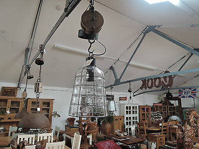 Small Industrial Rustic Ceiling Glass Light Shades With Electrical Fittings