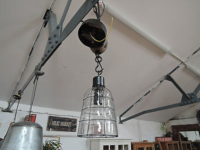 Large Industrial Rustic Ceiling Glass Light Shades With Electrical Fittings