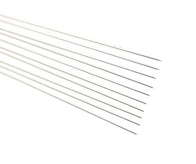 """Pure Tungsten Drawn Rod Wire .0050 X 12"""" Long (Lot Of 10)"""